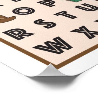 Cowboy Alphabet Poster