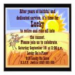 "Cowboy and Blue Jean Retirement Party Invitation 5.25"" Square Invitation Card"