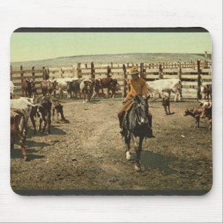 Cowboy and Cattle Mouse Pad