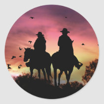 Cowboy and Cowgirl Country Western Riding Stickers