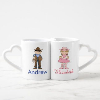 Cowboy and Cowgirl Couples Mug Set