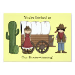 Cowboy and Cowgirl Housewarming - Western Personalized Invites