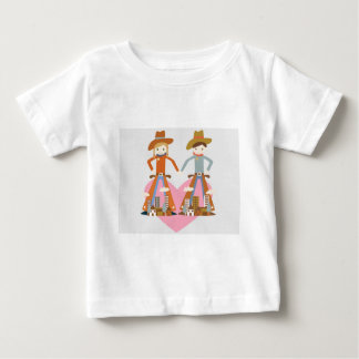Cowboy and Cowgirl in love Infant T-shirt