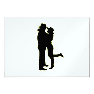 Cowboy and Cowgirl in Love Silhouette Card