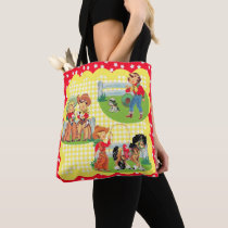Cowboy and Cowgirl Kids With Horse Dog And Rope Tote Bag
