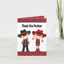 Cowboy and Cowgirl Note Cards