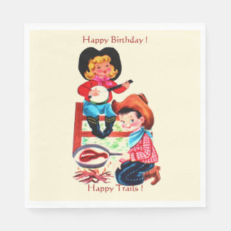 Cowboy and Cowgirl Party Napkin