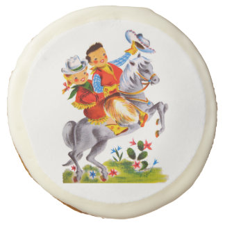 Cowboy and Cowgirl Party Sugar Cookie