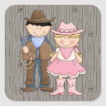 Cowboy and Cowgirl Stickers