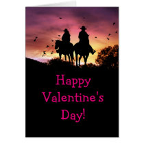 Cowboy and Cowgirl Valentine's Day Card Customize