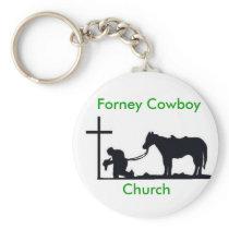 cowboy_and_cross, Forney Cowboy , Church Keychain