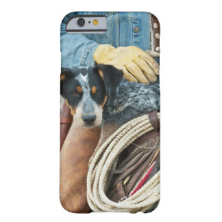 Cowboy and dog on horse barely there iPhone 6 case
