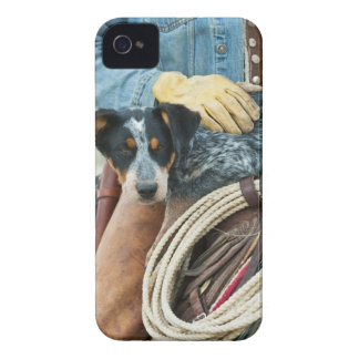 Cowboy and dog on horse Case-Mate iPhone 4 case