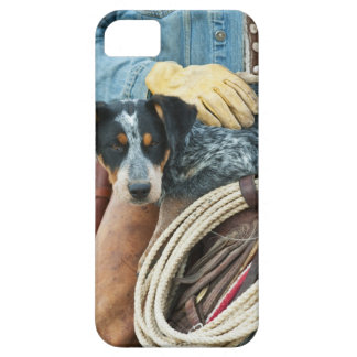 Cowboy and dog on horse iPhone SE/5/5s case