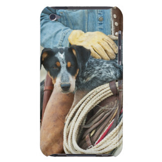 Cowboy and dog on horse iPod touch cover