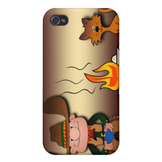 Cowboy and His Cat iPhone 4 Case