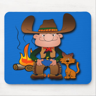 Cowboy and His Cat Mouse Pad