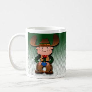 Cowboy and His Cat Classic White Coffee Mug