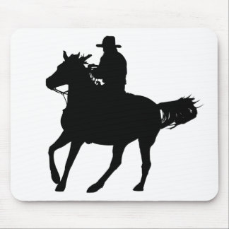 Cowboy and his horse mouse pad