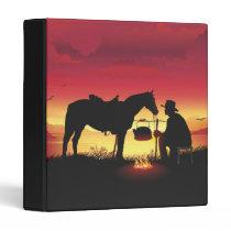 Cowboy and Horse at Sunset Binder