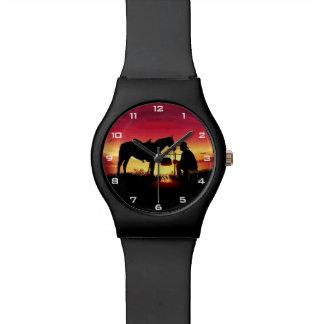 Cowboy and Horse at Sunset May28th Watch
