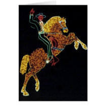 Cowboy and Horse Card