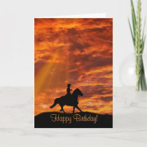 Cowboy and Horse Country Western Happy Birthday Card