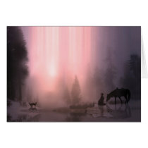 Cowboy and Horse Customizable Christmas Card