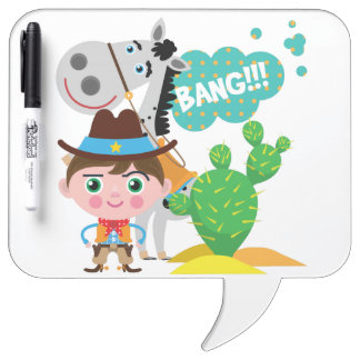 Cowboy and Horse Dry Erase Boards