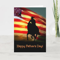 Cowboy and Horse Happy Father's Day Card