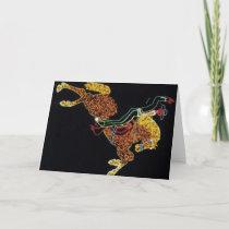 Cowboy and Horse Holiday Card