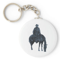 Cowboy and Horse Keychain