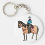 Cowboy and Horse Keychains