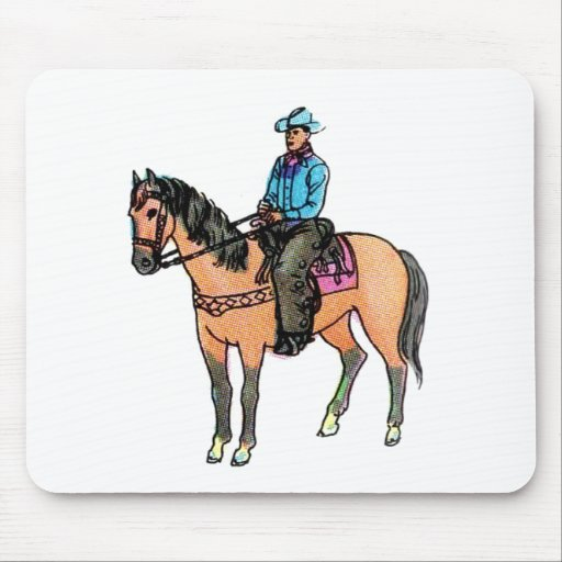 Cowboy and Horse Mouse Pad