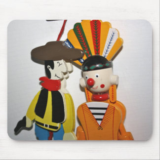 Cowboy and Indian Novelty Toy Mouse Pad