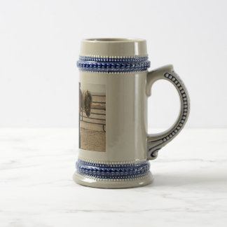 Cowboy and Paint Horse 18 Oz Beer Stein