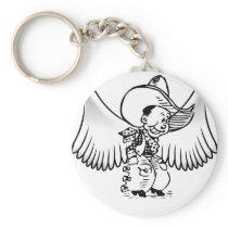Cowboy Angel Keychain