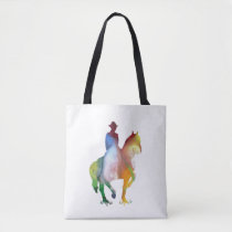 Cowboy art tote bag