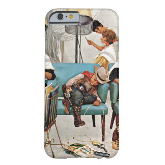 Cowboy Asleep in Beauty Salon Barely There iPhone 6 Case