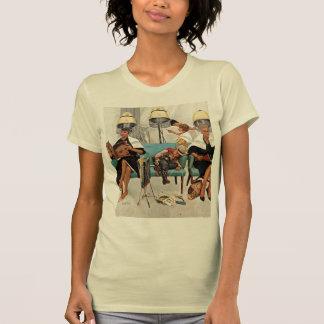Cowboy Asleep in Beauty Salon T-shirt