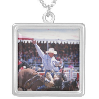 Cowboy at a Rodeo Silver Plated Necklace