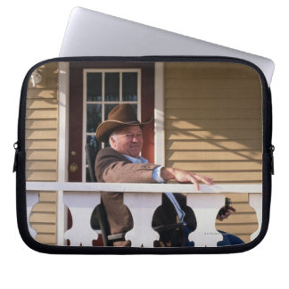 Cowboy at Home Laptop Sleeve