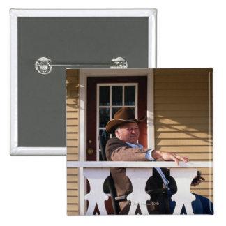 Cowboy at Home Pinback Button