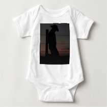 Cowboy at sunset baby bodysuit