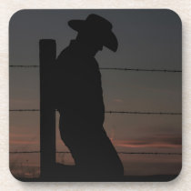 Cowboy at sunset coaster