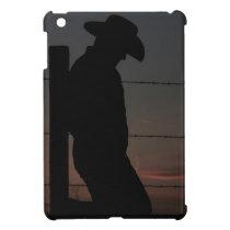 Cowboy at sunset iPad mini covers