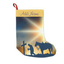 Cowboy At The Cross Christmas Stocking