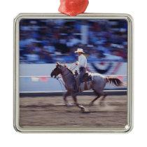 Cowboy at the Rodeo Metal Ornament