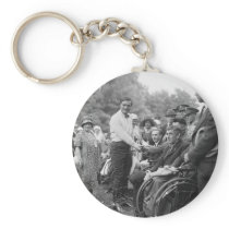 Cowboy at the White House, 1925 Keychain