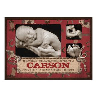 Cowboy Baby Announcement Card 2